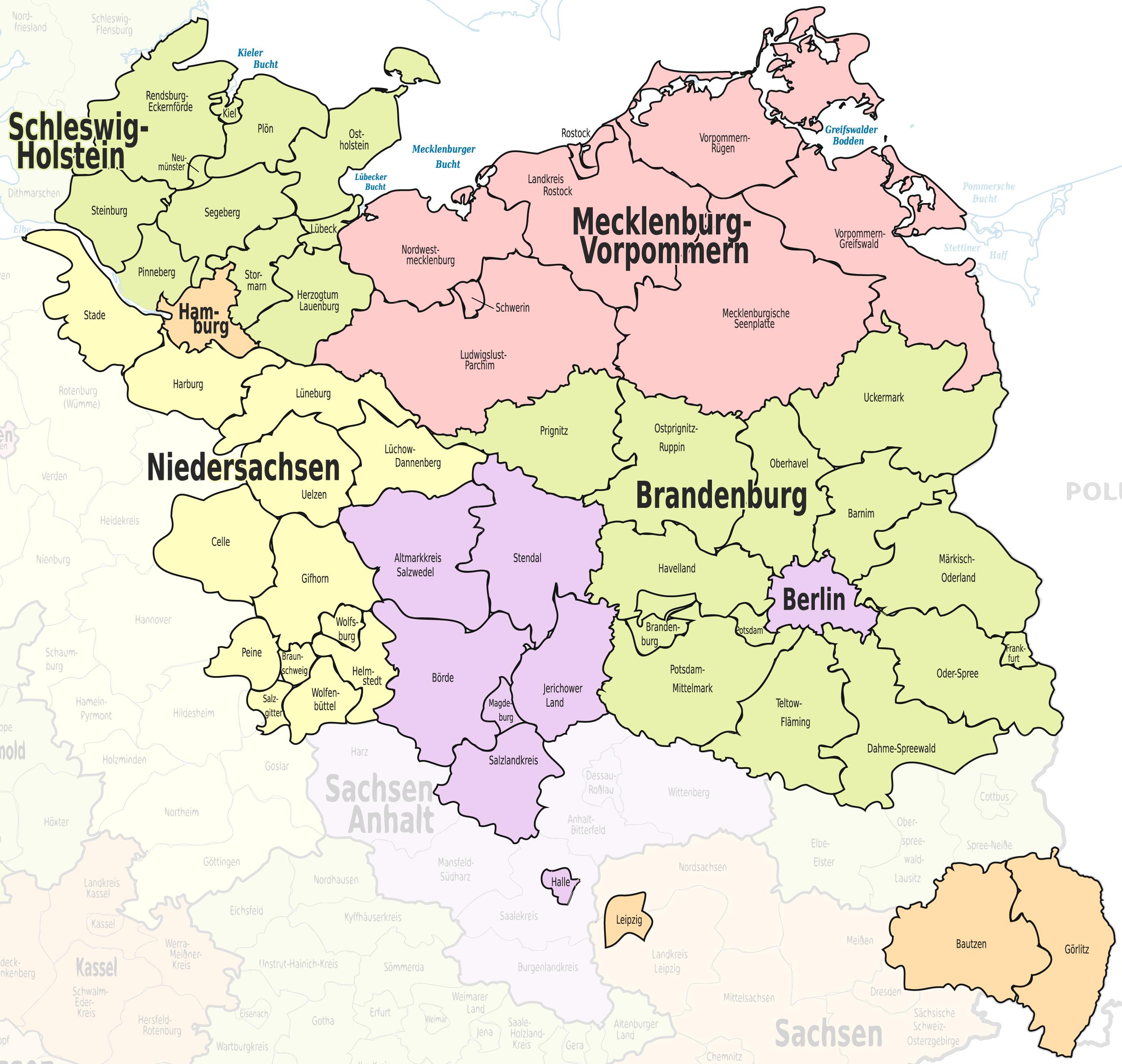Unsere Startregionen
